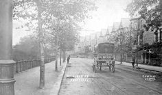 Cole Brothers' horse-drawn van on Rustlings Road, postmarked 1904, note the road sweepers