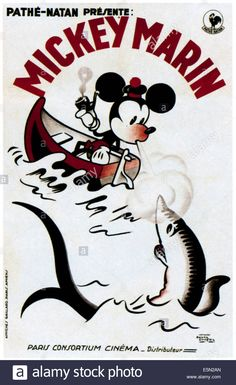 MICKEY MARIN, Mickey Mouse on French poster art, 1930.