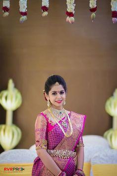 The Confessions (Wedding Story) of a Shopaholic Bride! South Indian Weddings, South Indian Bride, Indian Bridal, Kerala Bride, Hindu Bride, Telugu Wedding, Saree Wedding, Bridal Sarees, India Wedding