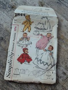Vintage Betsy Wetsy and Tiny Tears Doll Clothes by GryphonVintage, $12.00