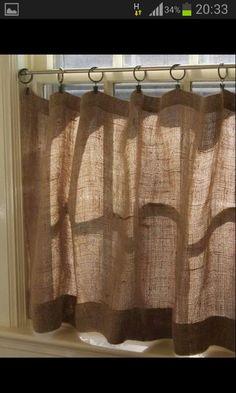 Burlap/hessian for my bedroom's little window
