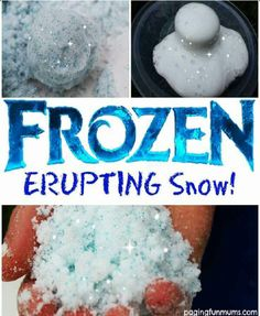 Frozen Erupting Snow!!!!!!!!! #Family #Kids #Musely #Tip