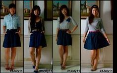 a line skirt outfits - Bing images