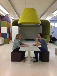 A Cone of Silence for those big open rooms where you're trying to have a private conversation.  Images | BuzziSpace