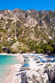 Apella Beach, Karpathos 2009 by kruijffjes, via Flickr  <3