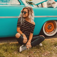 "9,320 Likes, 36 Comments - Hailey Marie (@dreaming_outloud) on Instagram: ""uploaded a new video on youtube today! click the link in my bio to watch our vintage car show vlog…"""