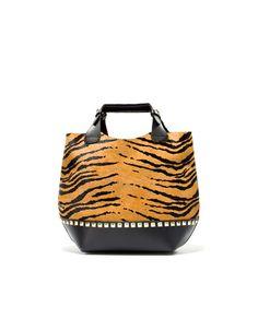 MINI TIGER TOTE BAG - Handbags - Woman - ZARA United Kingdom