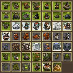 Kingdom Rush Enemies - Soldiers Tanks