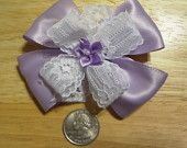 "infant, toddler, & girls Hair bows about 3 3/4"" 100% polyester. clips will hold in very fine hair. made in the usa"