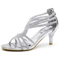 9cc4a4fe6b7d0 awesome SheSole Women s Low Heel Dance Wedding Sandals Dress Shoes Wedding  Shoes Heels