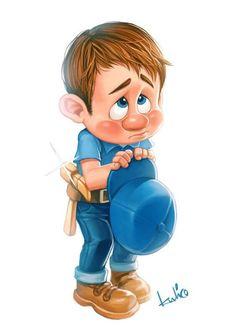 fix it felix Wreck It Ralph, Disney And Dreamworks, Disney Pixar, Disney Characters, Sugar Rush, Cute Disney, Disney Art, Fix It Felix Jr, Manga Anime