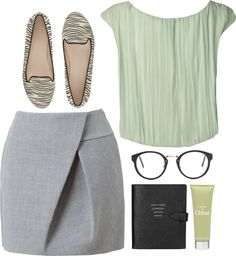 """fresh mint"" by rosiee22 ❤ liked on Polyvore"