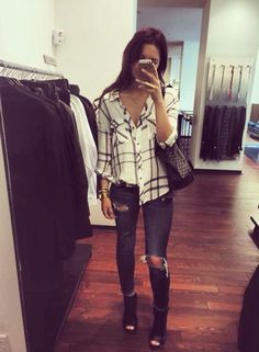 Fall Outfit - Plaid Top!