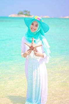 Hijab with hat