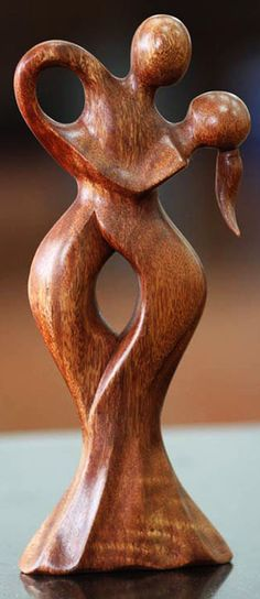 """Dancing Couple,"" Fair Trade Romantic Wood #Sculpture from Bali. A nice detail to any wedding decor."