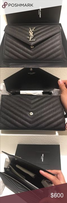 448ab049681fa YSL Monogram Medium Wallet On Chain This item is brand new and 100%  authentic doesn