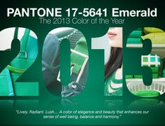 2013 Color of the Year: Pantone Emerald