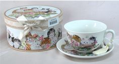 Kittens Design Gift Boxed Tea Cup $25.00