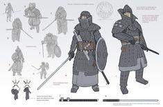 Feng Zhu Design: Term 3 Finals - Entertainment Design - Part 1 Fantasy Character Design, Character Design Inspiration, Character Concept, Character Art, Medieval Armor, Medieval Fantasy, Dnd Characters, Fantasy Characters, Armor Concept