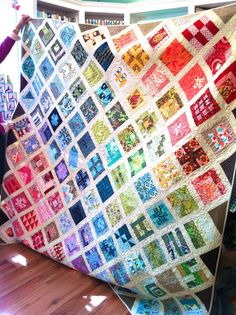 The colour placement is well done as well as the individual block construction - it's the quilt from Tula Pink 100 quilt blocks book.