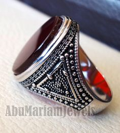 Turkish Style Dyed Ruby /& Emerald Silver Plated-Brass Ring Size 10.25 US Exotic Handmade
