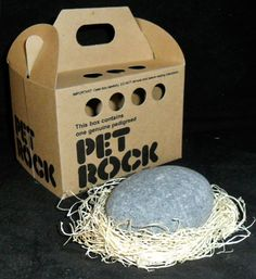 The Pet Rock. proving marketing is everything....OMG.