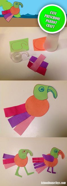 Parrot Craft for Preschoolers - SchoolhouseToys.com