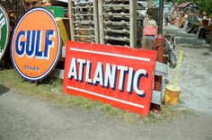About a Place: Brimfield Market Old Gas Stations, Blue Orange, Urban Outfitters, Old Things, Branding, Cartoon, Marketing, Cool Stuff, Places