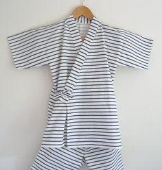 Boy's KIMONO Suits for Summer JINBEI sailor marine by Shantique