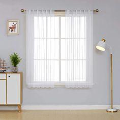 Deconovo Sheer Curtains - CountryCurtains Unique Curtains, White Sheer Curtains, Voile Curtains, Kids Curtains, Colorful Curtains, Window Curtains, Decorative Curtains, Curtains Childrens Room, Nursery Curtains