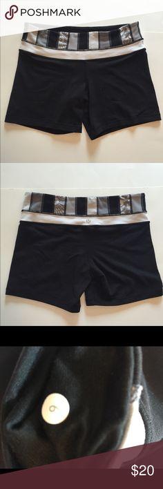 Lululemon black shorts Sz 6 Lululemon black spandex shorts 5 in inseam Sz 6 GUC lululemon athletica Shorts