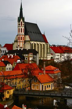Český Krumlov, Czech Republic.  I love this place, a great medieval looking city, from the castle over looking the city you can just picture it during the medieval time period.