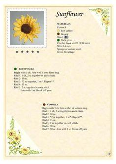 Watch The Video Splendid Crochet a Puff Flower Ideas. Wonderful Crochet a Puff Flower Ideas. Crochet Puff Flower, Crochet Sunflower, Crochet Flower Tutorial, Knitted Flowers, Crochet Flower Patterns, Love Crochet, Irish Crochet, Beautiful Crochet, Crochet Motif