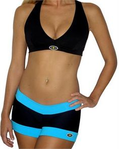 Fitness Fashion ·  Jiu-Jitsu shorts and deep V-Neck halter top set Six Pack  Abs de0de1fa3