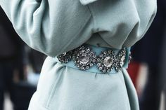 Burberry crystallized belt