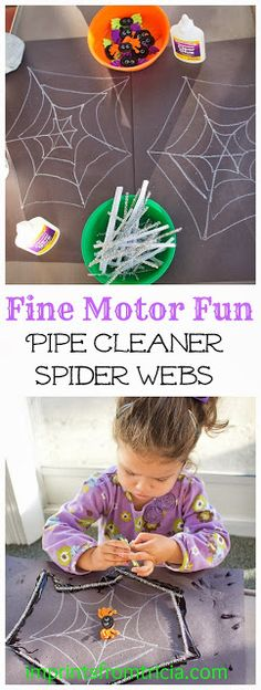 Fine Motor Fun: Pipe Cleaner Spider Web | Imprints From Tricia
