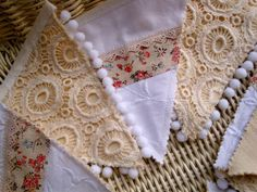 Cotton and Lace rustic - shabby chic Bunting . £21.75