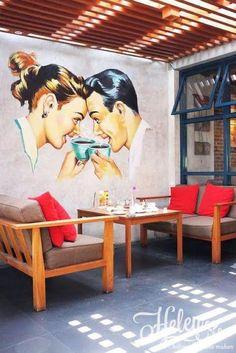 ボード Design Environmental Graphics Cafe Restaurant のピン