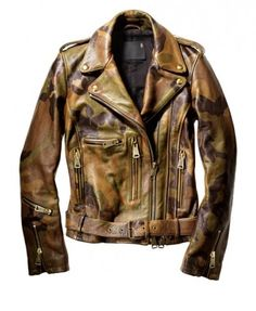 R13 camo leather jacket
