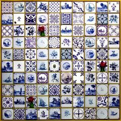 Delft - Handmade tiles can be colour coordinated and customized re. shape, texture, pattern, etc. by ceramic design studios Delft Tiles, Blue Tiles, Mosaic Tiles, Love Blue, Blue And White, Going Dutch, Blue Pottery, Handmade Tiles, Glazes For Pottery