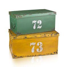 Kempston opbergboxen geel, groen - Eightmood - Manden & Kisten :: Leeff