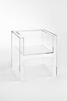 universal-blueprint: just-good-design: The Invisibles Light by Tokujin Yoshioka, 2011 for Kartell. Art Deco Furniture, Online Furniture, Modern Furniture, Furniture Design, Glass Furniture, Furniture Chairs, Furniture Stores, Glass Chair, Wooden Office Chair