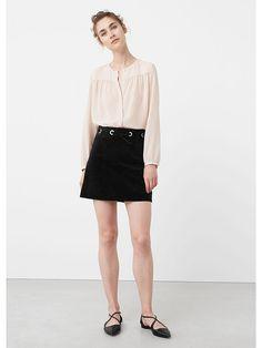 Блузка - ASPI Mango. Цвет бледно-розовый.