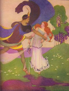 """Pluto seized Proserpina by the wrist"" from ""Myths and Enchantment Tales"" by Margaret Evans Price."
