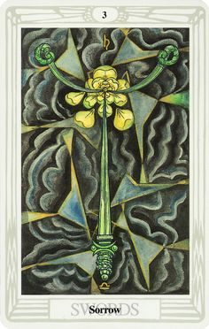Belle Constantinne - Three of Swords - The Thoth Deck by Aleister Crowley
