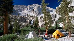 CAs Adventure | 8 great campgrounds in California - Eastern Sierra: Campers on the Whitney Portal Trail, in the Sierra Nevada mountains, Inyo National Forest, California (Brent Winebrenner / Getty Images/Lonely Planet Image)