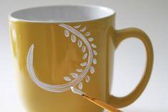 Anthropologie Inspired DIY Coffee Mug » The Patriotic Peacock