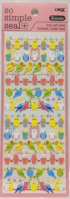Parakeet Budgerigar Budgie Cockatiel Lovebird Stickers on Etsy, $2.54