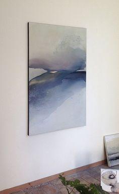 Large Landscape, Original Painting on Canvas, Blue and Brown Painting / Abstract Landscape on Canvas / Modern Art - Contemporary Art