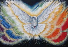 The Spirit of Adonai will rest on him, the Spirit of wisdom and understanding, the Spirit of counsel and power, the Spirit of knowledge and fearing Adonai -- Isaiah Holy Spirit Dove prophetic art. Peace Dove, Prophetic Art, Biblical Art, Fear Of The Lord, Pentecost, Bible Art, Paintings For Sale, Oil Paintings, Religious Art